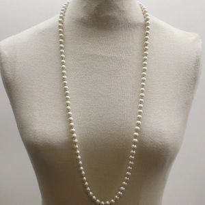 Anthropologie single stranded pearl necklace